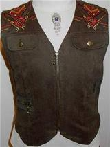Green Studs Embroidery Western Halter Horse Show Vest 8 - $38.00