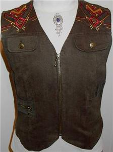 Green Studs Embroidery Western Halter Horse Show Vest 8