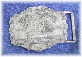 Livingston Wells Boat Ship Halter Horse Show Buckle - $18.00