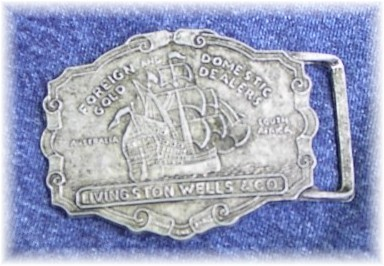 Livingston Wells Boat Ship Halter Horse Show Buckle