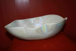 Over Sized Yalos Casa Murano Signed Mid Century Fine Art Center Bowl Opalescent  - $148.79