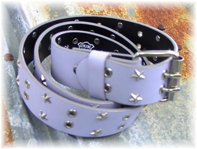 Lavendar Leather Studs Rail Halter Horse Show Belt LG