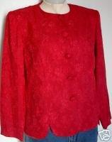 Red Western Showmanship Halter Horse Show Jacket 10