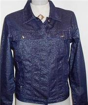 Fubu Blue Silver Sparkle Halter Horse Show Jacket 7/8 - $40.00