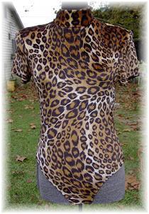 Leopard Halter Horse Show Rail Rodeo Slinky Bodysuit Sm