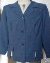 Blue Blk Western Halter Horse Show Jacket Plus Size 20 - $40.00