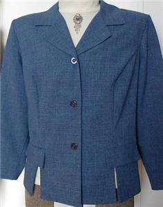 Blue Blk Western Halter Horse Show Jacket Plus Size 20