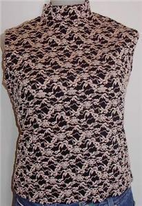 Black W Tan Embroidery Horse Show Slinky Plus Size XL
