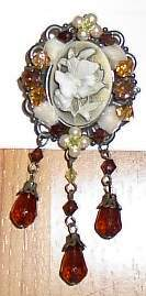 Butterfly Cameo Horse Show Jewelry Pin Brooch SHOWTIME!