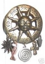 Sun Face Arrowhead Cross Horse Show Jewelry Pin Brooch - $15.00