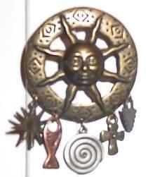 Sun Face Arrowhead Cross Horse Show Jewelry Pin Brooch
