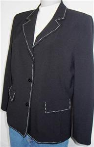 Black White Ticking Western Halter Horse Show Jacket 8P