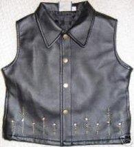 Girls Pleather Studs Western Halter Horse Show Vest 7/8 - $38.00