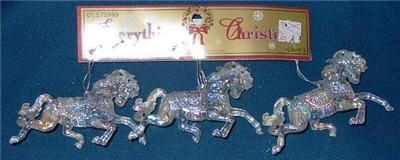 Set of Three Andalusian Horse Ornaments PRETTY!