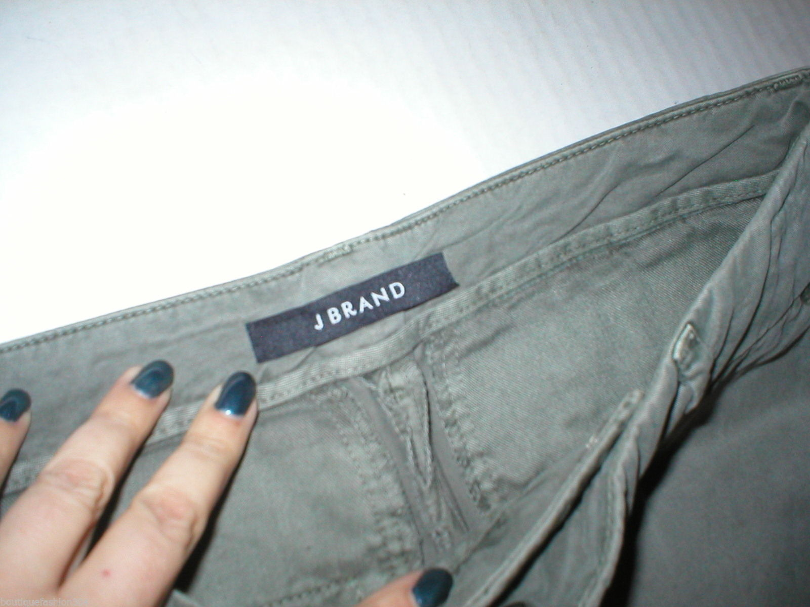 New J Brand Jeans Relaxed Womens Parker Vin Fort 25 Chino Pant Army Green Cotto image 5