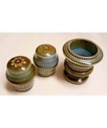 Vintage ~ Wade Irish Porcelain Salt Pepper Shakers & Toothpick Holder Ir... - $19.79