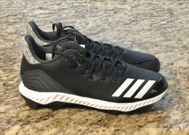NEW Adidas Icon Bounce TPU Molded Baseball Cleat Black/White Mens Sz 10.5 AQ0154 - $28.59