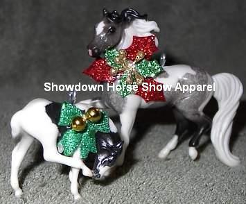 CM Breyer Stablemate Pinto Paint Horse Ornament Set