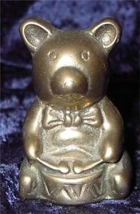 Brass Teddy Bear Bears with Drum Decoration