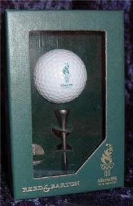 Reed & Barton 1996 Atlanta Olympic Golf Ball & Tee S