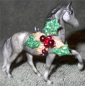 CM Grey Peruvain Paso Breyer Horse Christmas Ornament