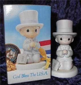 1992 Precious Moments God Bless The USA Praying Boy CF