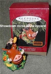 1997 Hallmark Keepsake Ornament Lion King Timon Pumbaa
