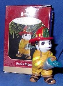 Hallmark Keepsake Ornament Bucket Brigade Fireman Bear