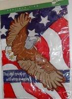 American Flag & Soaring Eagle Mailbox Garden Flag