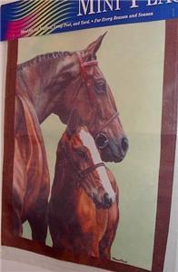 Hunter Jumper Mare & Foal Horse Mailbox Garden Flag