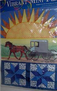 New! Horse Amish Quilt Carriage Garden Mailbox Flag Sun
