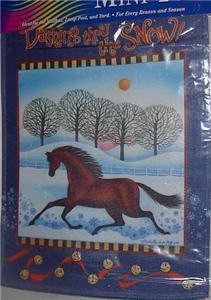 Horse Garden Mailbox Flag Dashing Thru The Snow Winter