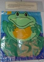 Green Frog on Lilypad Toad on Lily Pad Garden Flag