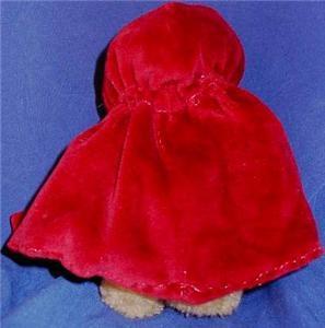 Boyds Teddy Bear Red Riding Hood 1995-1997 Retired
