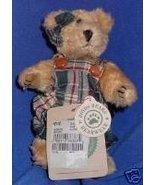 Boyds Teddy Bear Green Plaid Jumper 1995 Retired - $24.99