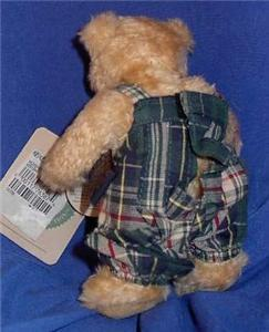 Boyds Teddy Bear Green Plaid Jumper 1995 Retired