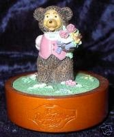 Robert Raikes Musical Music Box George Teddy Bear