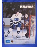 NHL Vancouver Canucks Hockey Magazine Vintage Collector Jan. 1973 Souvenir - $9.95