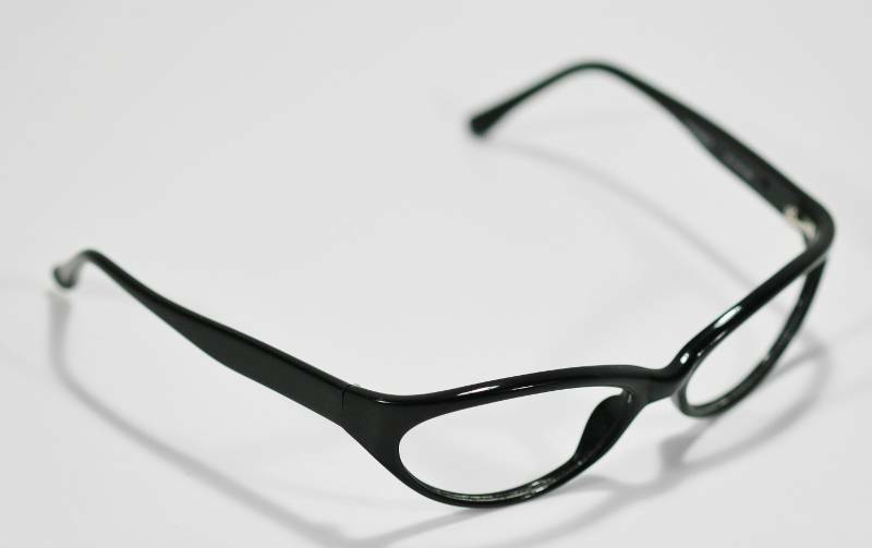 Fossil Unisex SPEEDSTER Shiny Black Plastic Eyeglass Frames Style Rx Eyewear - $9.12