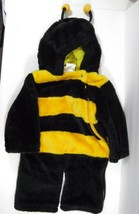 Sz 12 Months 1 Toddler Bumble Bee Halloween Costume Yellow Black Furry Soft - $19.99