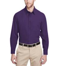 Men's Classic Fit Long Sleeve Button Down Purple Lightweight Dress Shirt - M image 2
