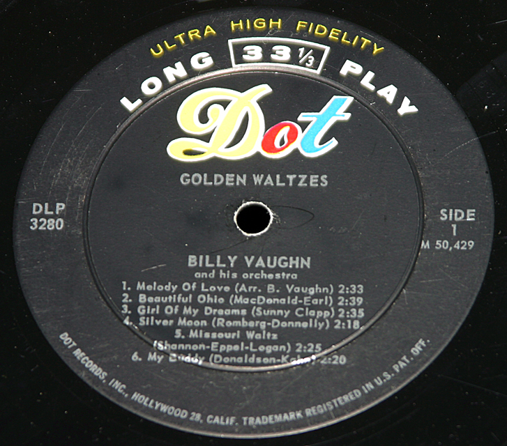 "Billy Vaughn  ""Golden Waltzes""   LP"