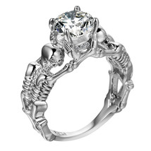 Ghost evil Skull skeleton Hand CZ Ring European and American Punk style ... - $9.99