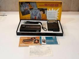 Kodak big flash wow vintage excellent Vtg in yellow box kodak camera - $36.09