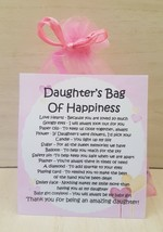 Daughter's Bag of Happiness - Unique Fun Novelty Gift & Card All In One - $6.74