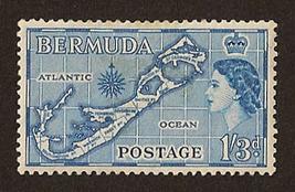 Old Bermuda Stamp - 1953-58 Queen Elizabeth Pictorials - $8.75