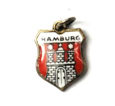 Silver Suvenja 700 Hamburg Enamel Travel Charm 15mm x 11mm - $9.89