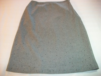 WOMEN GAP GREY DRESS SKIRT SIZE 2