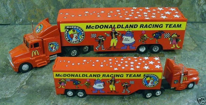 Set of 3 McDonalds Die Cast Metal Vehicles - Bank