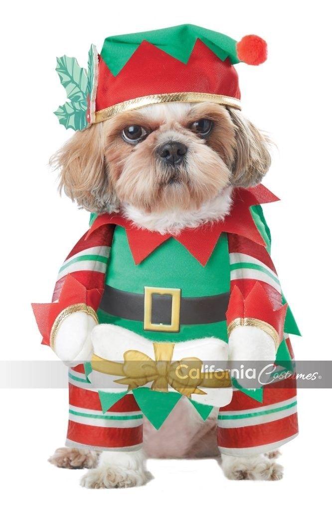 California Costumes Elf Cachorro Papá Noel Perro Navidad Vacaciones Disfraz
